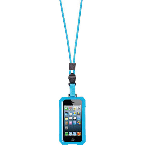 EK USA i5 Dri Cat Neck it Waterproof Case with Lanyard for iPhone 5 (Turquoise Blue)