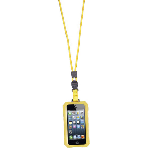 EK USA i5 Dri Cat Neck it Waterproof Case with Lanyard for iPhone 5 (Yellow)