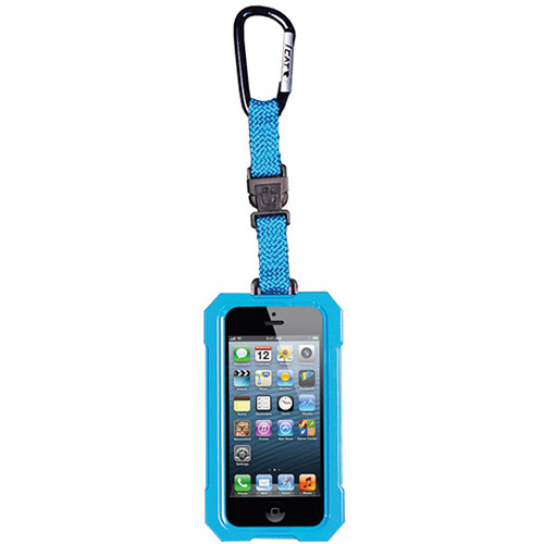 EK USA i5 Dri Cat Hang it Waterproof Case with Carabiner Leash for iPhone 5 (Turquoise Blue)