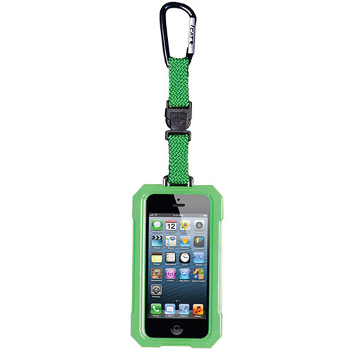 EK USA i5 Dri Cat Hang it Waterproof Case with Carabiner Leash for iPhone 5 (Lime Green)