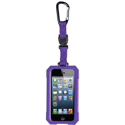 EK USA i5 Dri Cat Hang it Waterproof Case with Carabiner Leash for iPhone 5 (Purple)