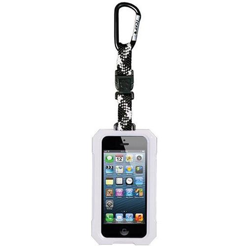 EK USA i5 Dri Cat Hang it Waterproof Case with Carabiner Leash for iPhone 5 (White)