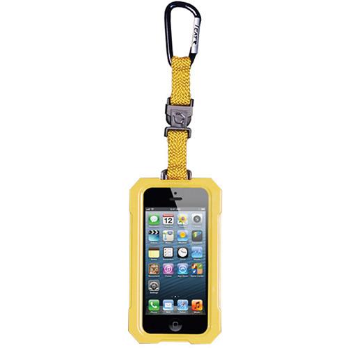EK USA i5 Dri Cat Hang it Waterproof Case with Carabiner Leash for iPhone 5 (Yellow)