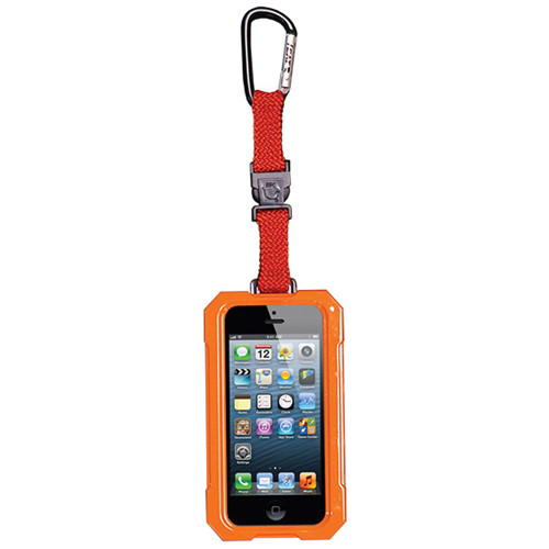 EK USA i5 Dri Cat Hang it Waterproof Case with Carabiner Leash for iPhone 5 (Orange)