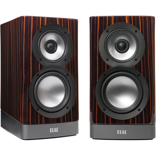 ELAC NAVIS ARB-51 3-Way Powered Bookshelf Speaker (Pair, Gloss Ebony Emara)