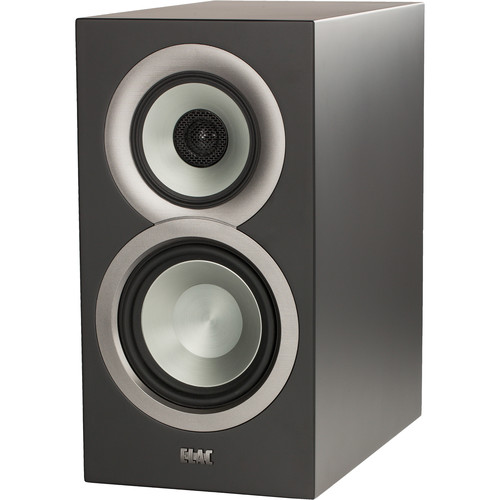 ELAC Uni-Fi BS U5 Slim 3-Way Bookshelf Speakers (Satin Black, Pair)