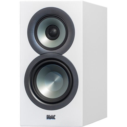 ELAC Uni-Fi BS U5 Slim 3-Way Bookshelf Speakers (Satin White, Pair)