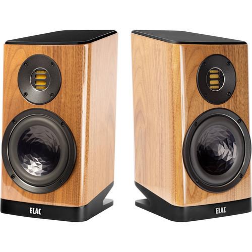 ELAC Vela BS 403 2-Way Bookshelf Speaker (Gloss Walnut, Pair)