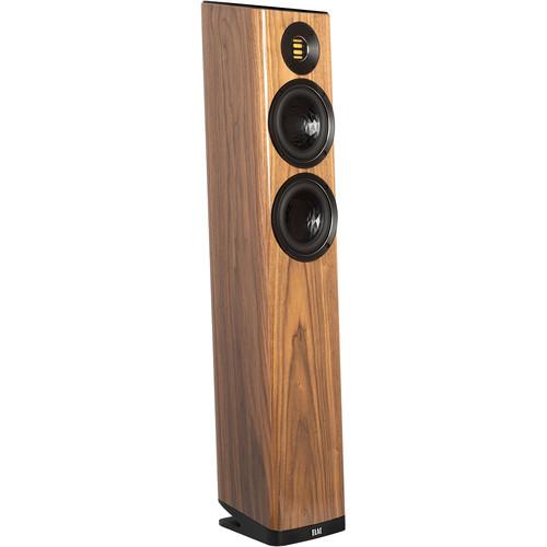 ELAC Vela FS 407 2.5-Way Floorstanding Speaker (Gloss Walnut, Single)
