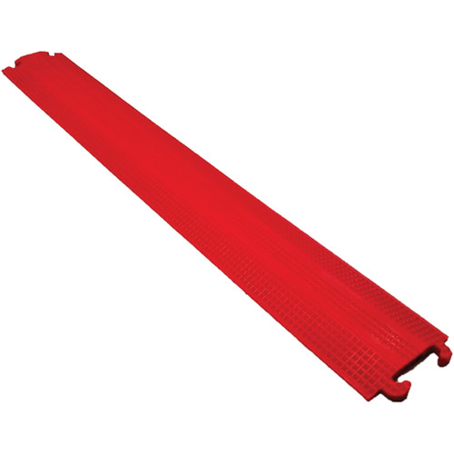 "Elasco Products ED1050-R Single-Channel Light-Duty Cable Dropover (Red, 1.5""-Wide Channel)"