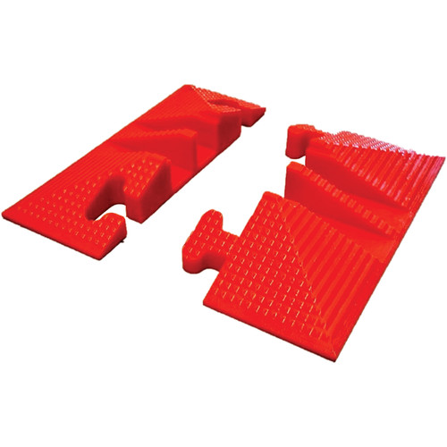 Elasco Products LG2125-ED Two-Channel Lite Guard End Set (Male and Female)