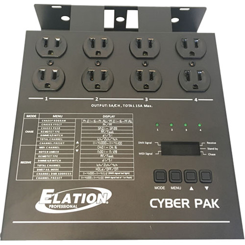 Elation Professional Cyber Pak 15A 3-in-1 Dimmer, Power, and MIDI