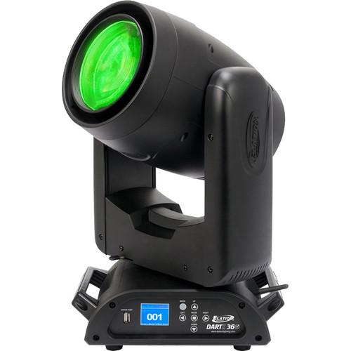 Elation Professional DARTZ 360 Compact Moving Head Fixture (Black)