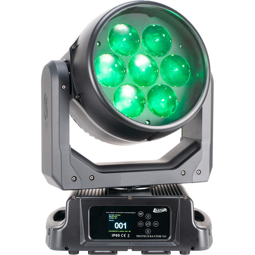 Elation Professional Proteus Rayzor 760 RGBW LED Moving Head Wash Fixture with SparkLED Effect