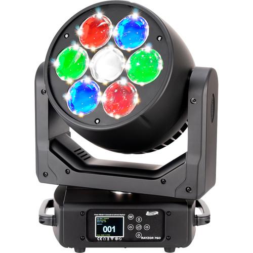 Elation Professional Rayzor 760 SparkLED Moving Head Wash Light (Black)