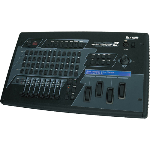 Elation Professional Show Designer 2CF - 2-Universe DMX Console with CF Card Reader (6RU)