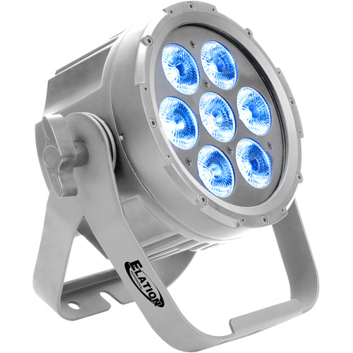 Elation Professional SIX007 Sixpar 100IP LED Fixture (7 LEDs, Outdoors, Silver)