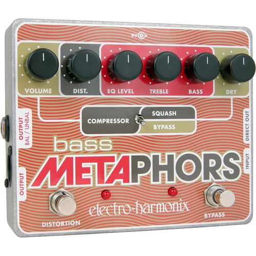 Electro-Harmonix Bass Metaphors Channel Strip and Overdrive Pedal