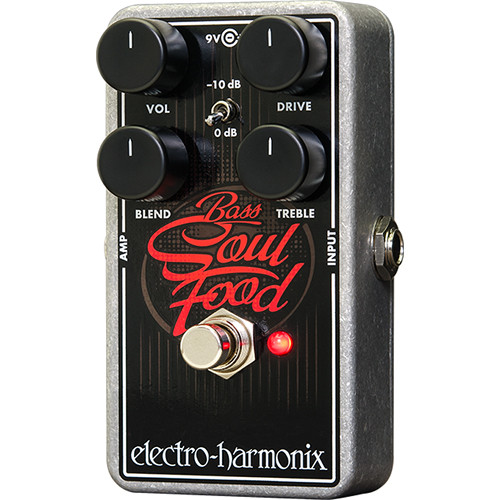 Electro-Harmonix Bass Soul Food Transparent Overdrive Pedal