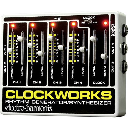 Electro-Harmonix Clockworks Rhythm Generator/Synthesizer Pedal