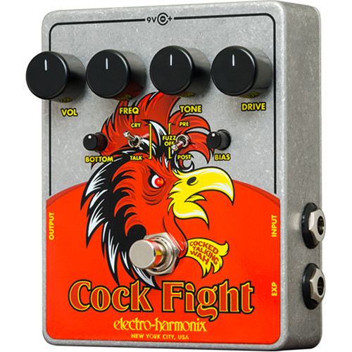 Electro-Harmonix Cock Fight - Cocked Talking Wah Pedal with Fuzz