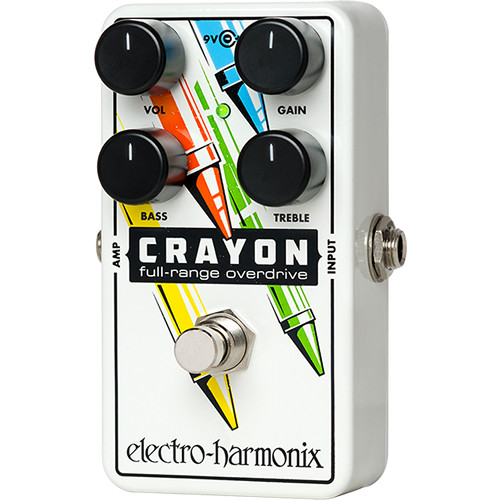 Electro-Harmonix Crayon 76 Full-Range Overdrive Pedal with Bass and Treble Controls