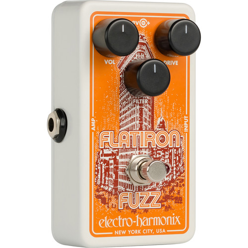 Electro-Harmonix Flatiron Fuzz Distortion Pedal for Electric Guitars