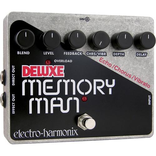 Electro-Harmonix Deluxe Memory Man Pedal with Analog Delay / Chorus / Vibrato