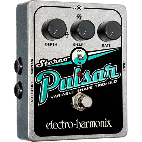 Electro-Harmonix Stereo Pulsar Variable Shape Tremolo Pedal