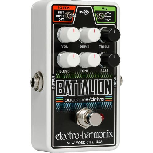 Electro-Harmonix Nano Battalion Bass Preamp and Overdrive Pedal