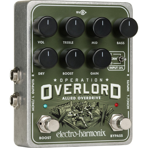 Electro-Harmonix Operation Overlord - Stereo Multi-Instrumental Overdrive Pedal