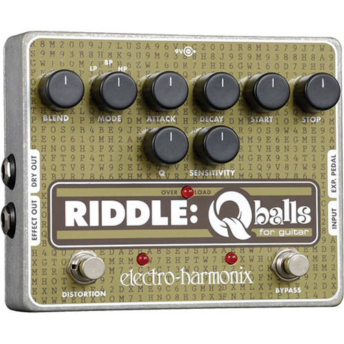 Electro-Harmonix RIDDLE Q-Balls Envelope Filter Pedal for Guitar