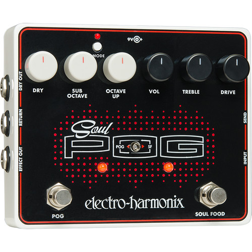 Electro-Harmonix Soul POG Overdrive & Polyphonic Octave Generator Pedal with Power Supply