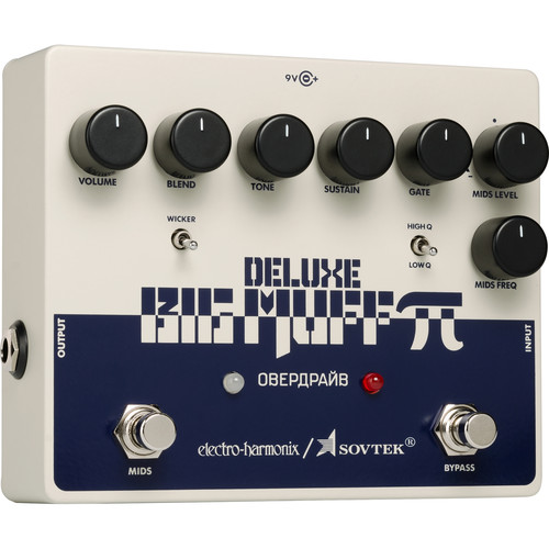 Electro-Harmonix Sovtek Deluxe Big Muff Pi Distortion Pedal for Electric Guitar and Bass