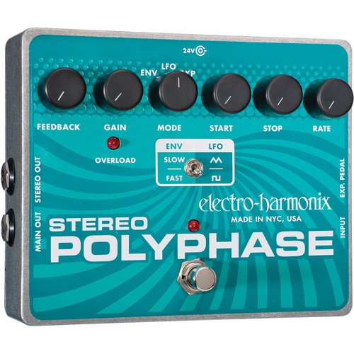Electro-Harmonix Stereo Polyphase Envelope/LFO Phase Shifter Pedal