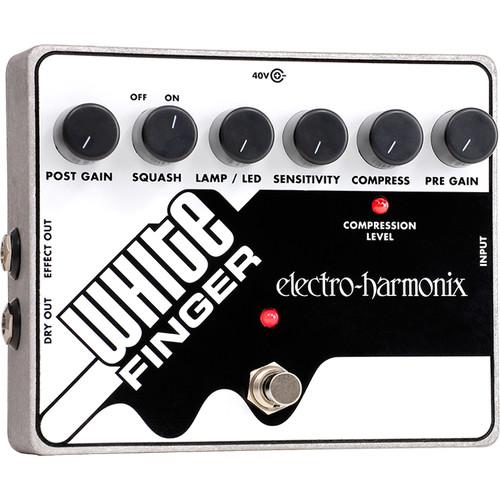 Electro-Harmonix White Finger Analog Optical Compressor Pedal