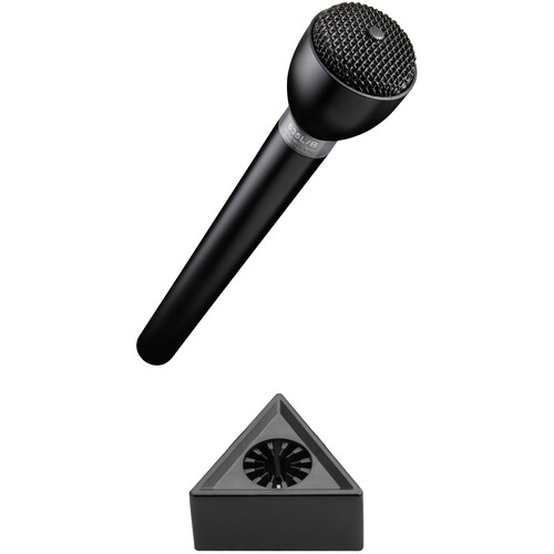 Electro-Voice 635L/B Omnidirectional Broadcast Mic with Rycote Mic Flag Kit (Black)