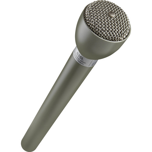 Electro-Voice 635L Omnidirectional Broadcast Mic with Rycote Mic Flag Kit (Beige)