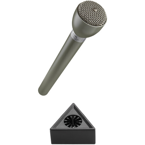 Electro-Voice 635L Omnidirectional Broadcast Mic with Mic Flag Kit (Beige)