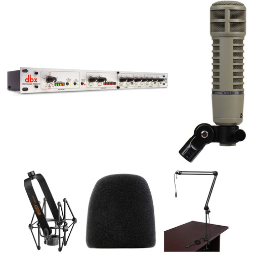 Electro-Voice RE20 Dynamic Microphone Broadcaster Kit with dbx 286s Preamp (Fawn Beige)