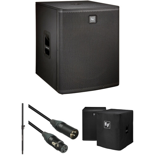 """Electro-Voice ELX118P 18"""" Subwoofer Kit with Speaker Pole, Cable, and Cover"""