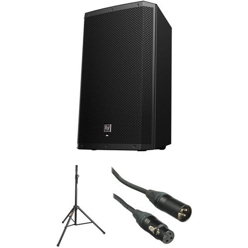 """Electro-Voice EV ZLX15P 15"""" Speaker with Stand and Cable Kit"""