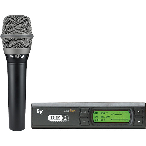 Electro-Voice RE-2 UHF Wireless Handheld Microphone System (Band G: 614 - 642 MHz)