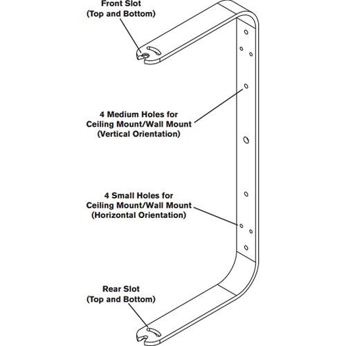 Electro-Voice MB3-W Wall/Ceiling Mount Bracket Kit for ZX3 Loudspeaker (White)