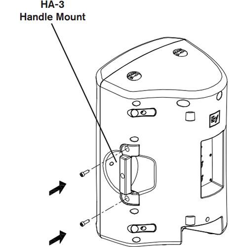 Electro-Voice HA-3-BLK VSA-1 Handle Adapter for ZX3 Loudspeaker (Black)