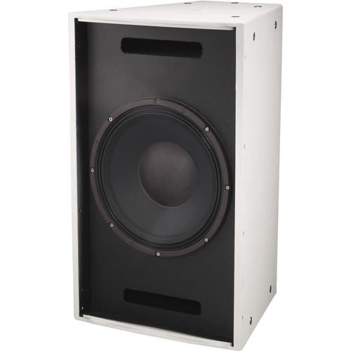 """Electro-Voice EVF1151S Single 15"""" Front-Loaded Bass Element System (White with Fiberglass Finish)"""