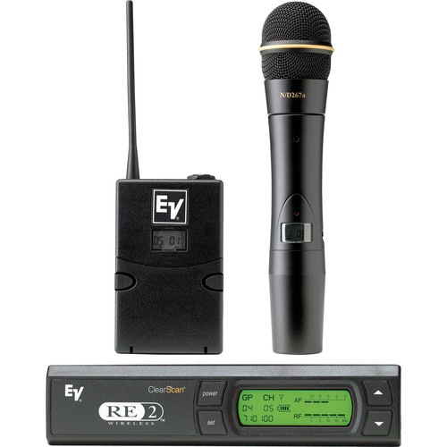 Electro-Voice RE-2 UHF Wireless Combo Microphone System (Band G: 614 - 642 MHz)