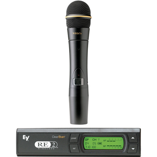 Electro-Voice RE-2 Handheld System with HTU2 Handheld Transmitter, ND267a Cardioid Mic, and RE-2 Receiver