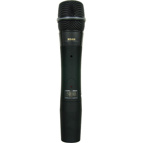 Electro-Voice HTU2C-410-G 1112 Channel Handheld Transmitter with RE410 Cardioid Condenser Microphone