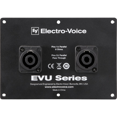Electro-Voice Dual NL4 Connector Cover Plate for EVU Series Loudspeakers